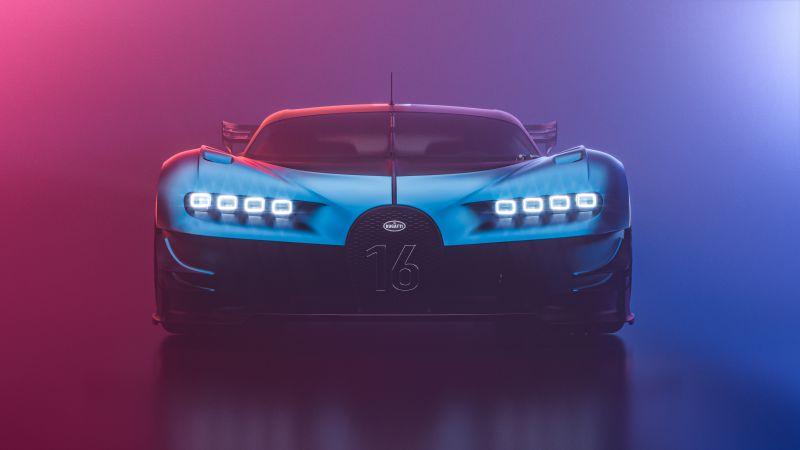 Bugatti Chiron Vision GT, Hyper Sports Cars, CGI, Wallpaper