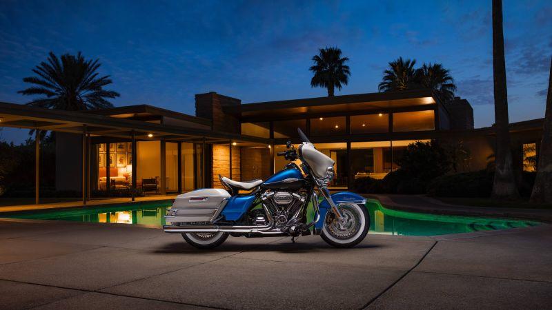 Harley-Davidson Elecra Glide, Classic bikes, 2021, 5K, 8K, Wallpaper