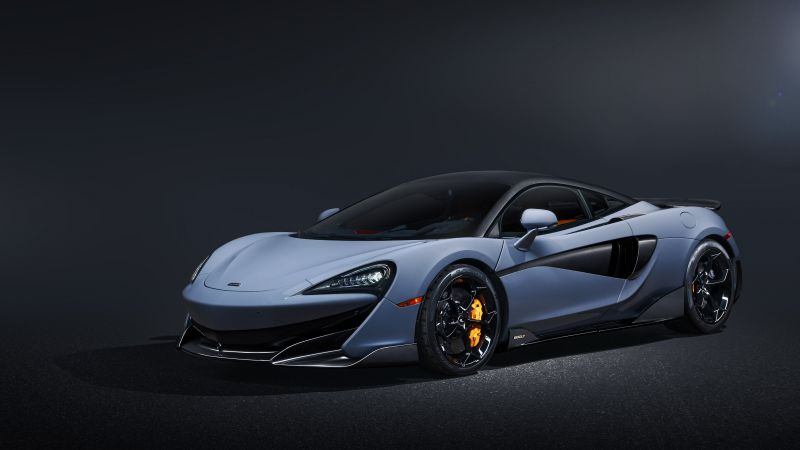 McLaren 600LT, Sports cars, Dark background, Wallpaper