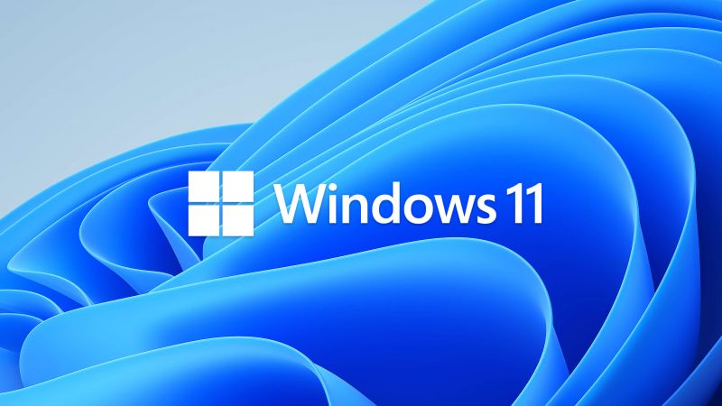 Windows 11, Stock, Official, Blue background, Abstract, Wallpaper