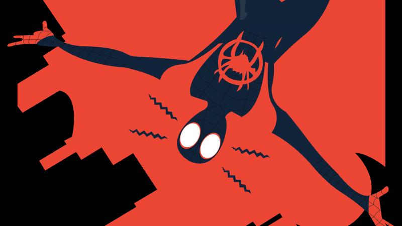 Miles Morales, Spider-Man, Minimal art, Marvel Superheroes, Wallpaper