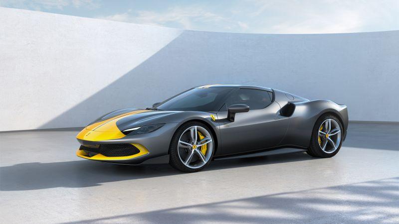 Ferrari 296 GTB Assetto Fiorano, Hybrid sports car, 2022, Wallpaper