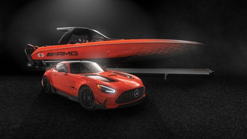 Mercedes-AMG GT Black Series, Super Sports Cars, 2021, Dark background, 5K, 8K, Wallpaper