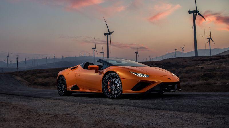 Lamborghini Huracan EVO RWD Spyder, 2021, 5K, Wallpaper