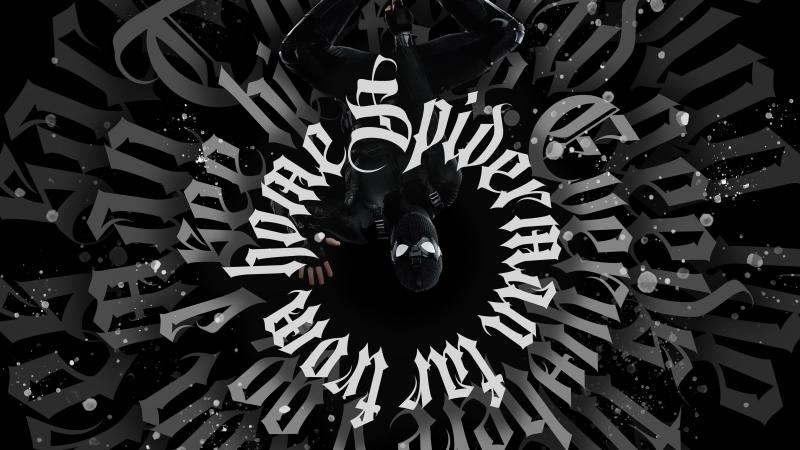 Spider-Man Noir, Spider-Man, Dark, Black background, Artwork, Digital Art, Wallpaper