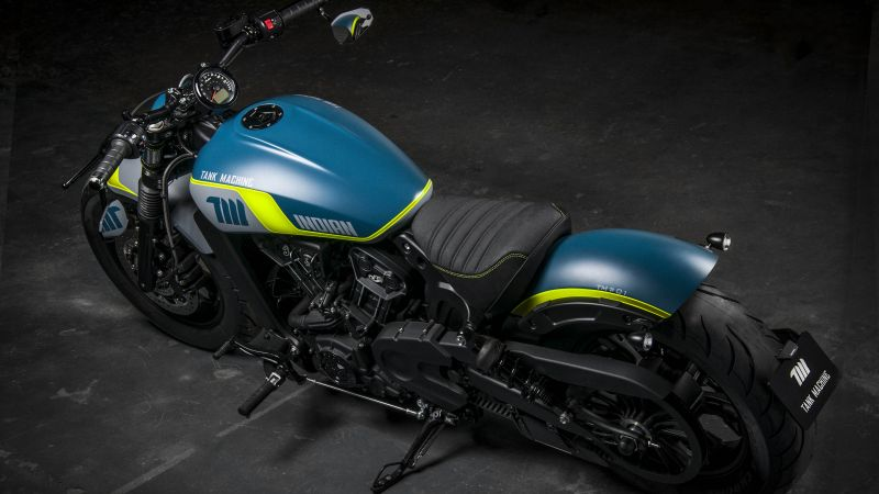Indian Motorcycles Scout Bobber Sixty Neon, Tank Machine, Limited edition, 2021, Wallpaper