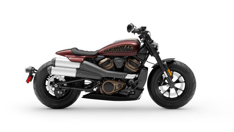 Harley-Davidson Sportster S, Cruiser motorcycle, 2021, 5K, 8K, White background, Wallpaper