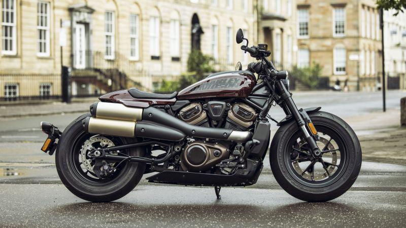 Harley-Davidson Sportster S, Cruiser motorcycle, 2021, 5K, 8K, Wallpaper
