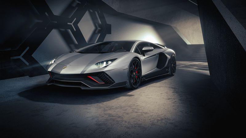 Lamborghini Aventador LP 780-4 Ultimae, Supercars, 2021, Dark, 5K, Wallpaper