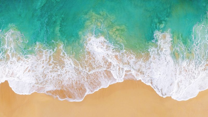 Beach, Aerial view, Drone photo, Seascape, Seashore, Wallpaper