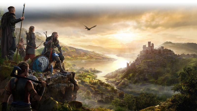 Assassin's Creed Valhalla, Vikings, Gameplay, 2020 Games, Wallpaper