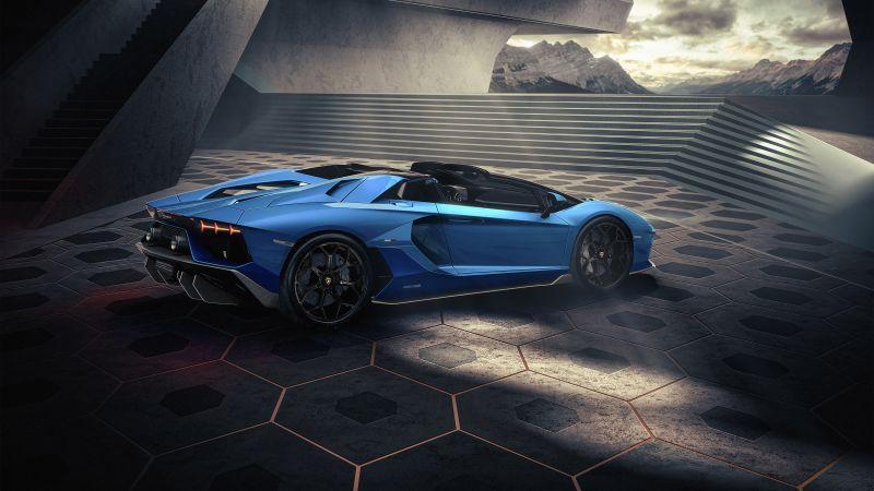 Lamborghini Aventador LP 780-4 Ultimae Roadster, Supercars, 2021, 5K, Wallpaper
