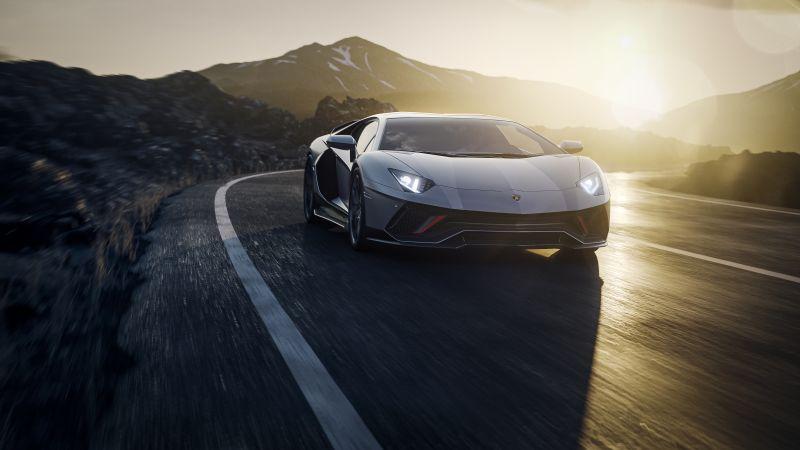 Lamborghini Aventador LP 780-4 Ultimae, Supercars, Highway, 2021, Wallpaper