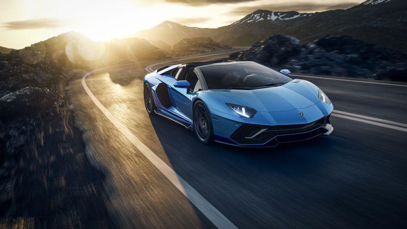 Lamborghini Aventador LP 780-4 Ultimae Roadster, Supercars, 2021, Wallpaper