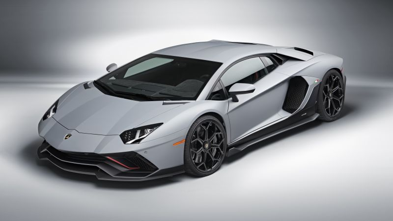 Lamborghini Aventador LP 780-4 Ultimae, Supercars, White background, 5K, 8K, 2021, Wallpaper