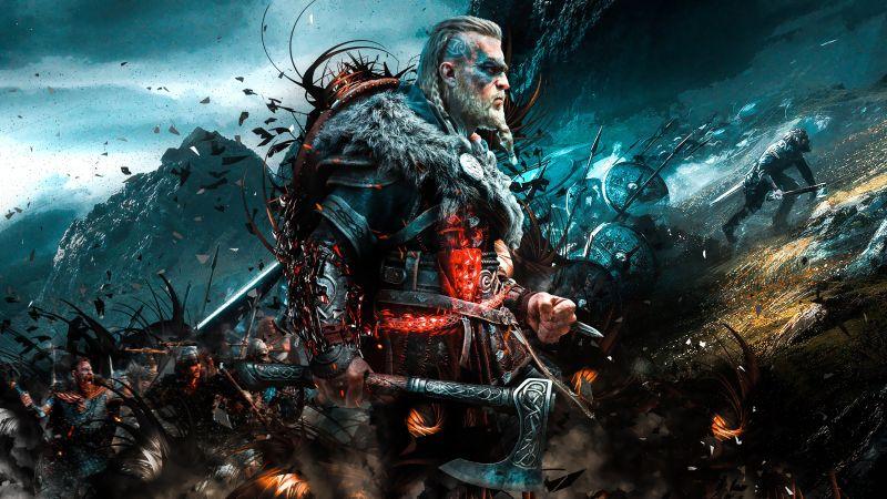 Assassin's Creed Valhalla, Viking raider, Eivor, PC Games, PlayStation 4, PlayStation 5, Xbox One, Xbox Series X, 2020 Games, Wallpaper