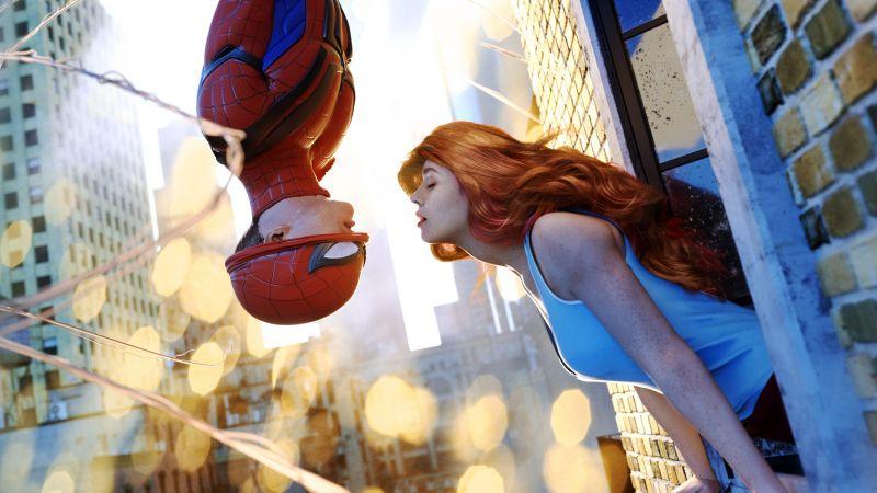 Spider-Man, Peter Parker, Mary Jane, Marvel Comics, Romantic, Wallpaper