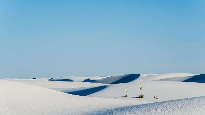 White Sands National Monument, Desert, Landscape, New Mexico, Wallpaper