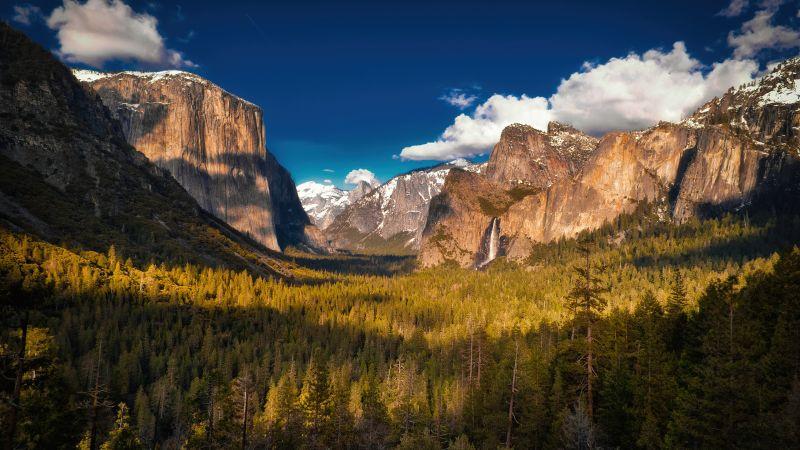 Yosemite Valley, Yosemite National Park, Landscape, Scenic, Clouds, Evening, Mountains, California