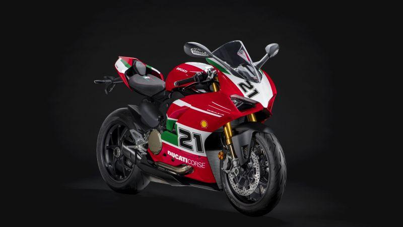Ducati Panigale V2 Bayliss, Sports bikes, 5K, 2021, Black background, 8K, Wallpaper