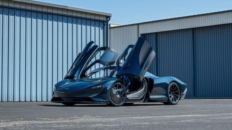 McLaren Speedtail, Hybrid sports car, 2021, Wallpaper