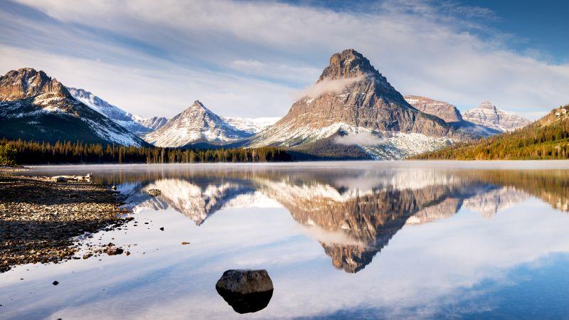 Lake, Mountains, Landscape, 5K, Wallpaper
