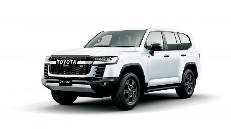 Toyota Land Cruiser GR Sport, 2021, White background, SUV, Wallpaper
