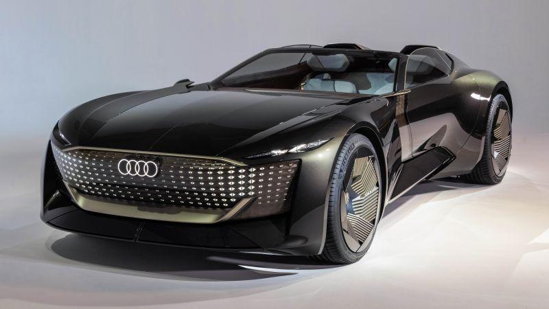 Audi skysphere concept roadster, Electric cars, Futuristic, Concept cars, Luxury cars, 2021, 5K, 8K, Wallpaper
