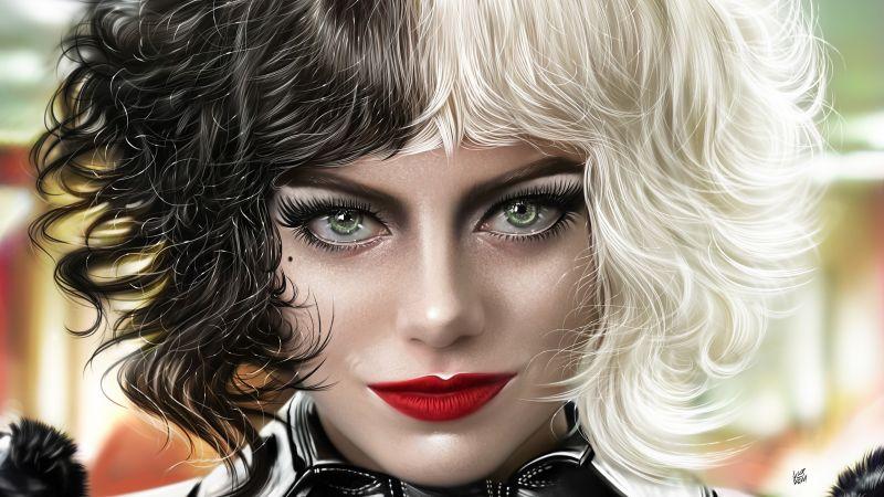 Cruella, Emma Stone, 2021 Movies, Artwork, Wallpaper