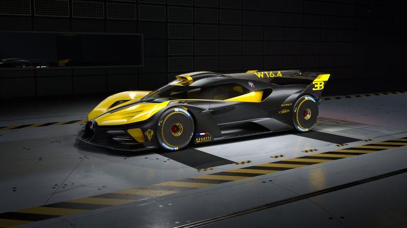 Bugatti Bolide, Hyper Sports Cars, 2021, Dark background, Wallpaper