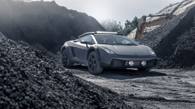 Lamborghini Gallardo Offroad, 5K, Wallpaper