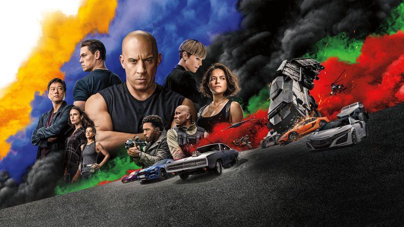 Fast & Furious 9, F9, Vin Diesel, Jordana Brewster, Ludacris, Michelle Rodriguez, Tyrese Gibson, Nathalie Emmanuel, 2021 Movies, Wallpaper