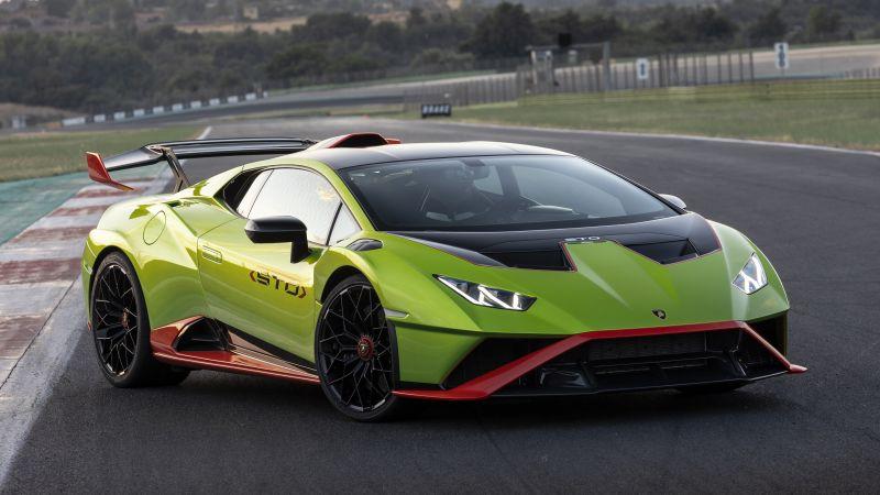 Lamborghini Huracán STO, Sports cars, 2021, 5K, Wallpaper