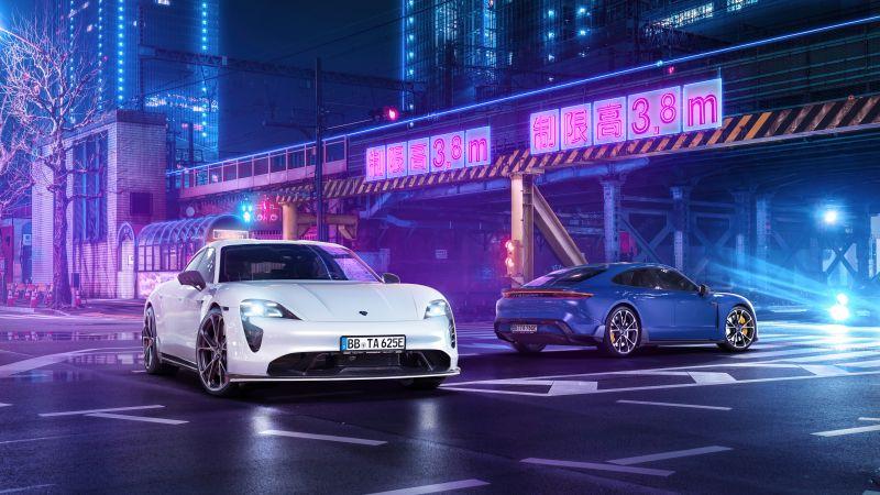 TechArt Porsche Taycan Aerokit, 2021, Wallpaper