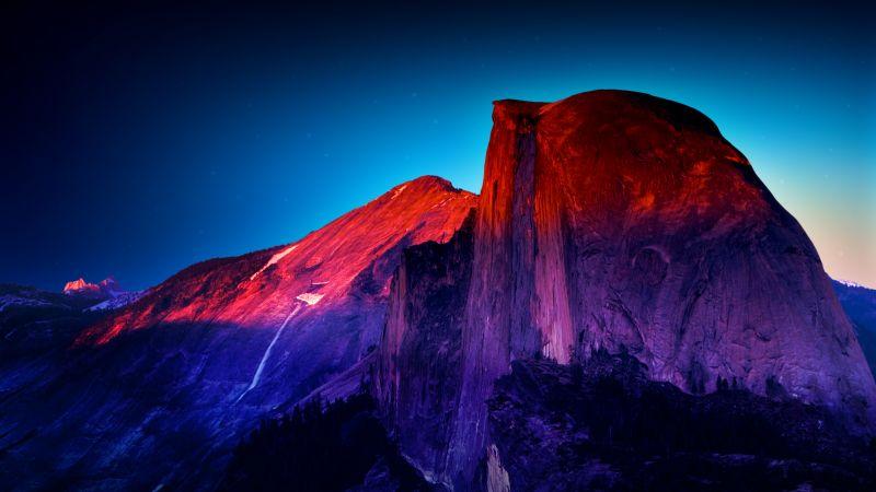 Glacier Point, Yosemite Valley, National Park, Colorful, Vibrant, Viewpoint, Mountain Peak, Manipulation, Retina, Landscape, Famous Place, 5K