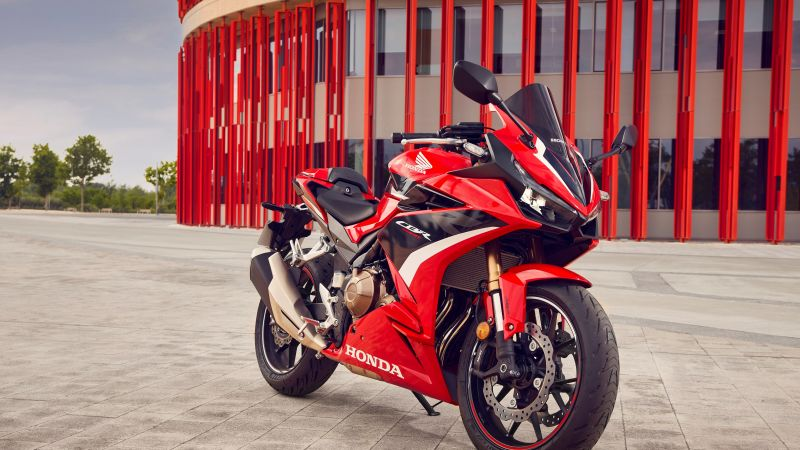 Honda CBR500R, 2022, Sports bikes, 5K, Wallpaper