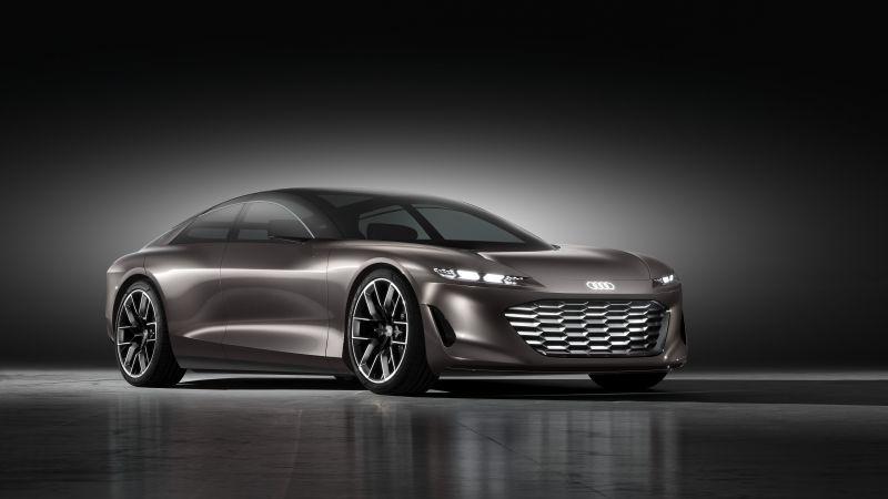 Audi grandsphere concept, Electric cars, Concept cars, 2021, Dark background, 5K, Wallpaper