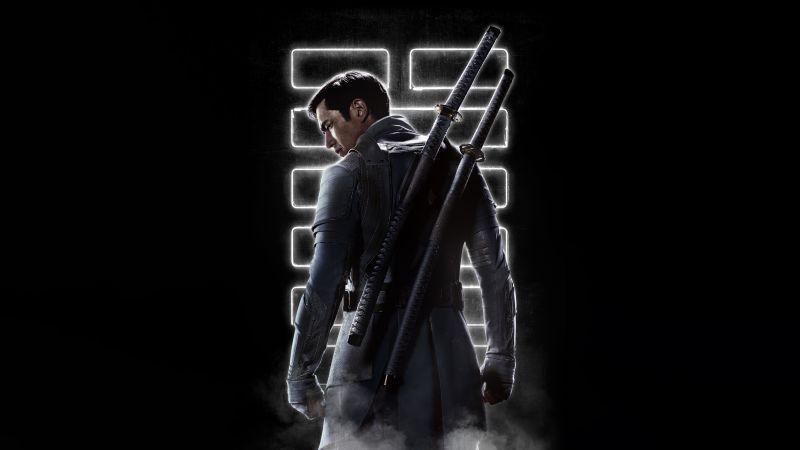 Snake Eyes: G.I. Joe Origins, 2021 Movies, Storm Shadow, Andrew Koji, 5K, 8K, Black background, Wallpaper