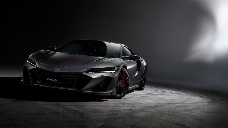 Honda NSX Type S, Hybrid Supercar, Sports cars, Dark Edition, 2022, Wallpaper