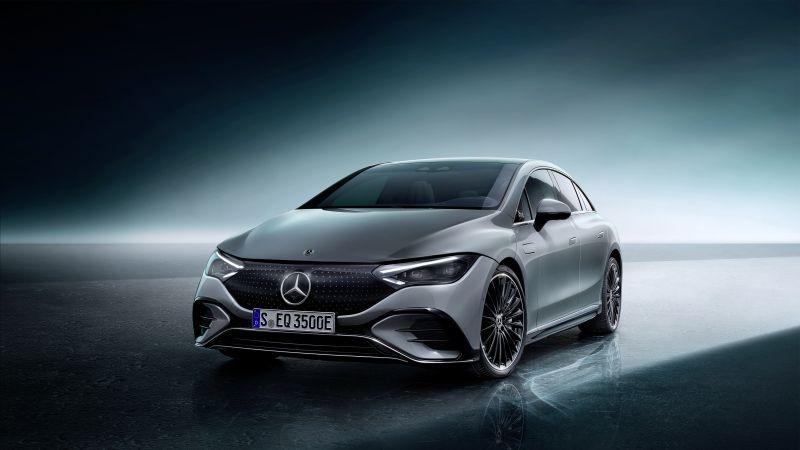 Mercedes-Benz EQE 350 AMG Line, Edition 1, 2022, 5K, Wallpaper