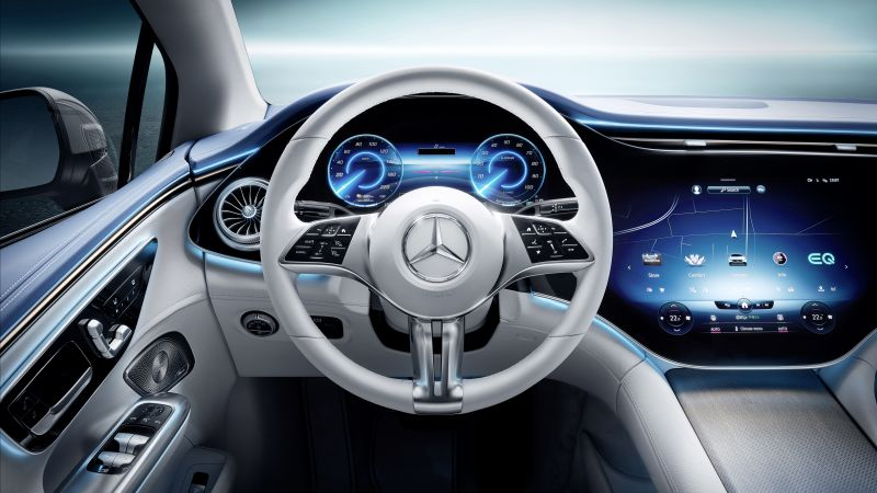 Mercedes-Benz EQE 350 AMG Line, Edition 1, 2022, Electric cars, Interior, Wallpaper