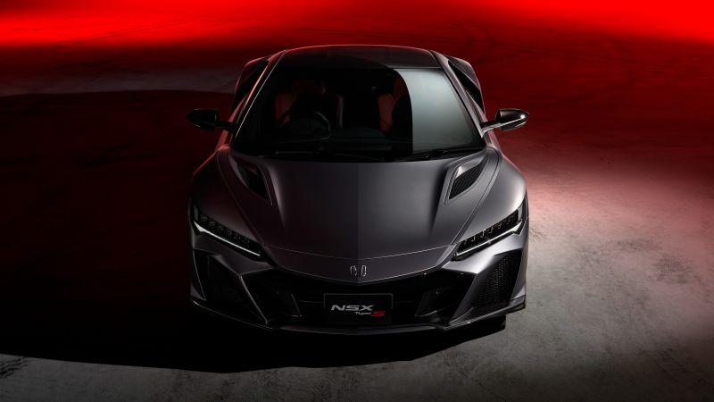 Honda NSX Type S, Hybrid Supercar, Sports cars, 2022, Black Edition, Black cars, Wallpaper