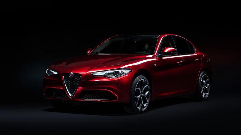 Alfa Romeo Giulia Ti 6C Villa d'Este, Dark background, 2021, 5K