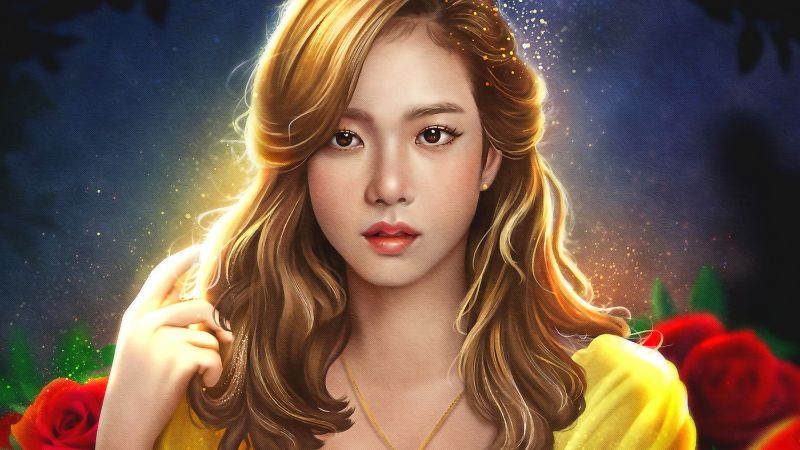 Jisoo, Blackpink, Artwork, Girly backgrounds, K-Pop singer, Korean singers, Wallpaper