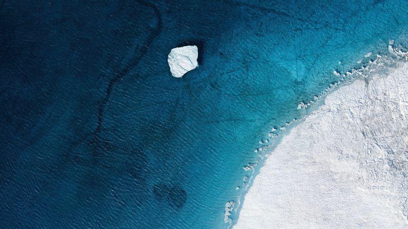 Beach, Mi Pad 5 Pro, Aerial view, Drone photo, Seashore, Winter, Iceberg, Polar Regions, Stock, Aesthetic