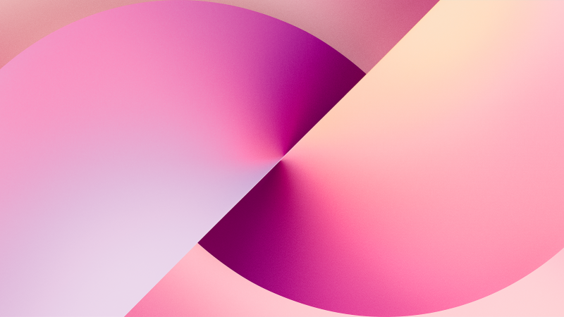 iPhone 13, Stock, iOS 15, Gradient background, iPhone 13 Pro Max, iPhone 13, Pink background