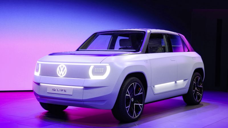 Volkswagen I.D. LIFE, Electric cars, 2021, Neon, Colorful background, 5K, Wallpaper