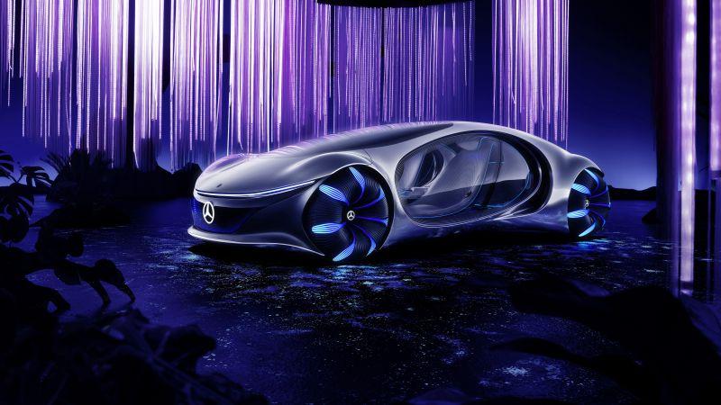 Mercedes-Benz VISION AVTR, Concept cars, 2020, 5K, 8K, Wallpaper