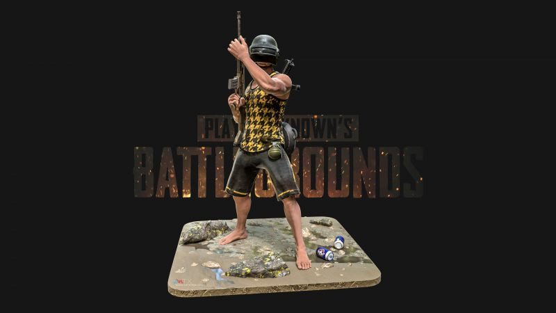 PUBG, PlayerUnknown's Battlegrounds, Black background, Wallpaper