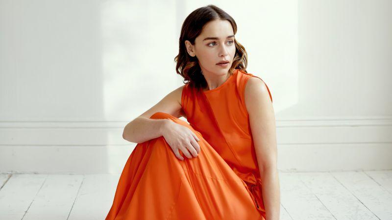 Emilia Clarke, Beautiful actress, Photoshoot, Wallpaper